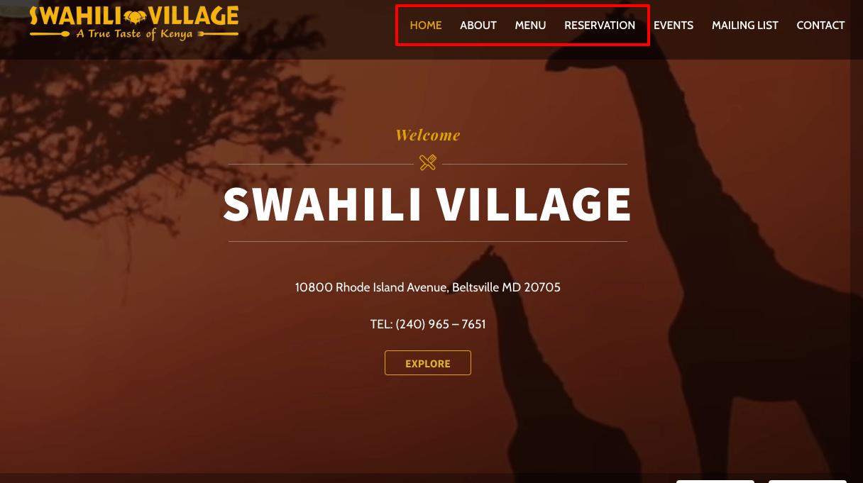 Swahili Village Analysis